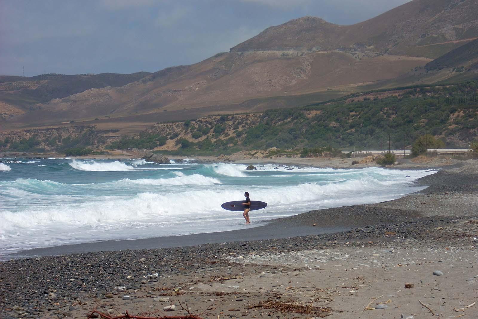 Sfinari to dobre miejsce na windsurfing.