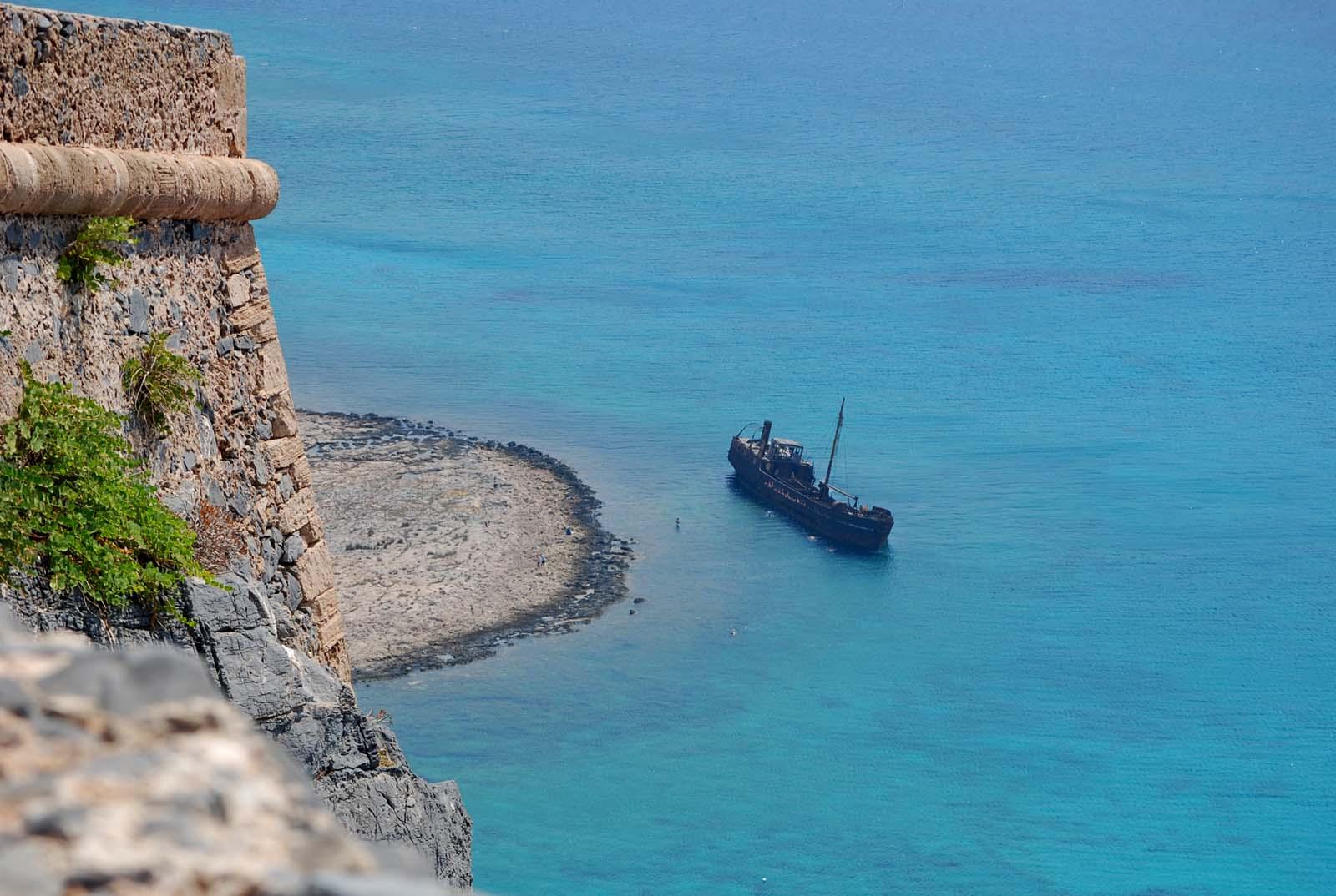 Wrak na wyspie Gramvousa