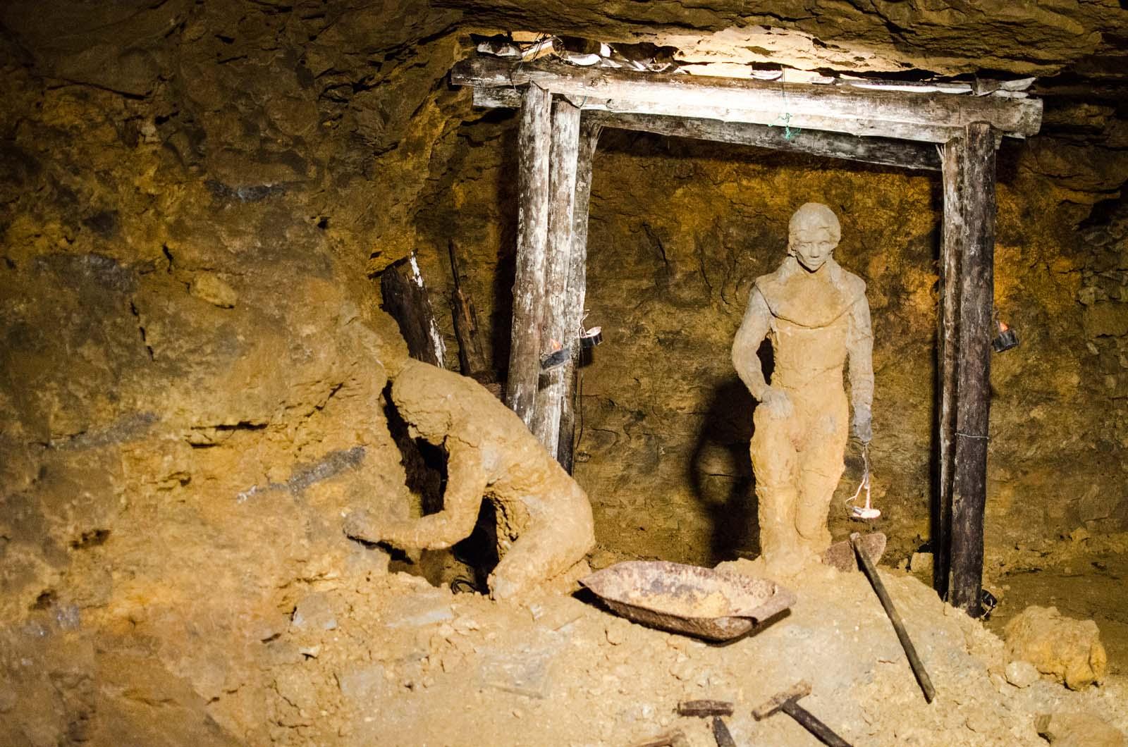 Praca w kopalni srebra. Tarnowskie Góry