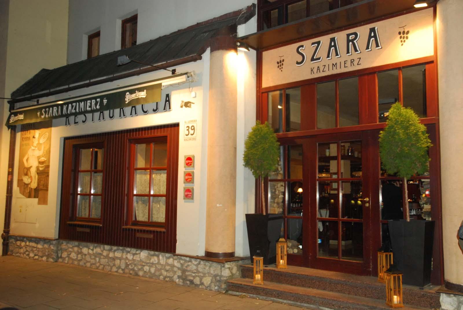 Restauracja  na krakowskim Kazimierzu przy ulicy Szerokiej, Kraków, Polska