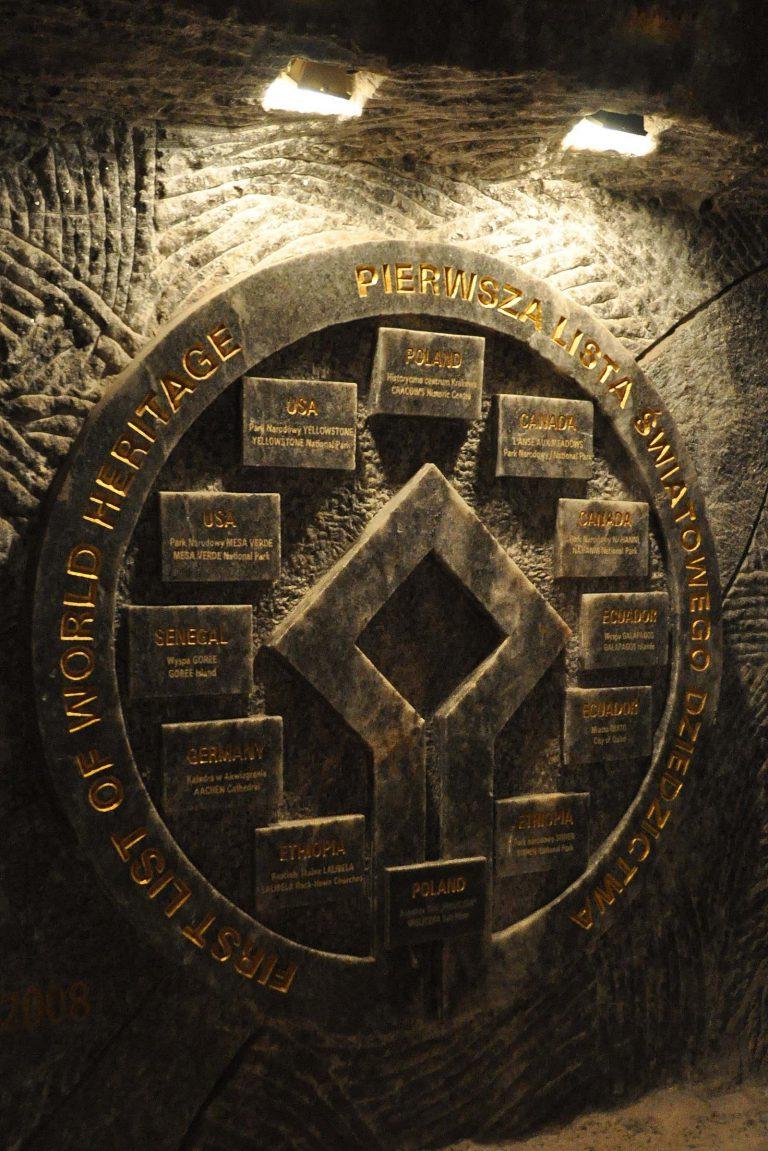 Kopalnia w Wieliczce to pierwszy wpis z Polski na pierwszej liście UNESCO z1978 r.