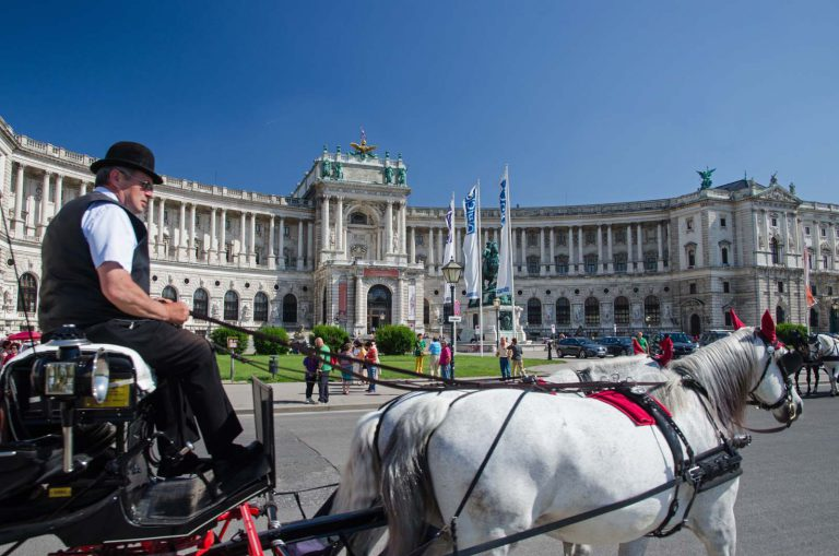 Dorożkarz w centrum Wiednia
