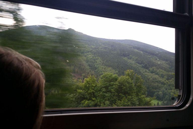 Na trasie Slezskyego Semmeringu. Z widokiem na Serak