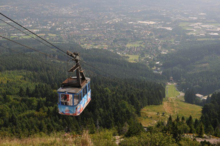 Kolej gondolowa na szczyt Jesztedu. Liberec