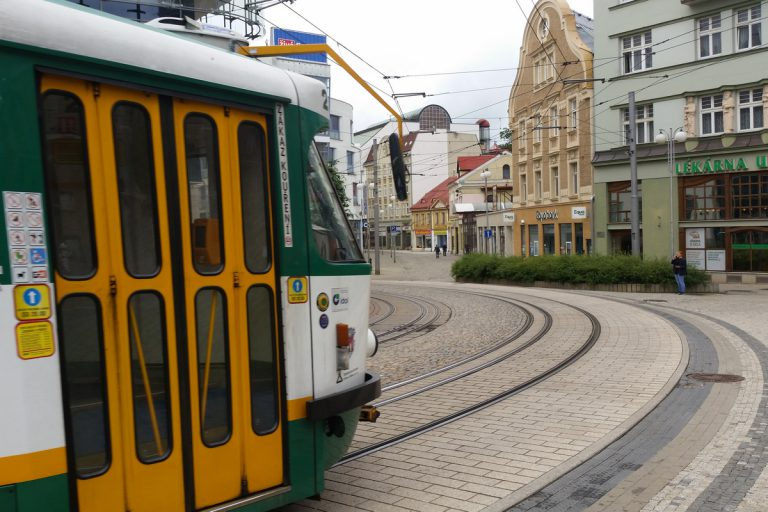Liberecki tramwaj. Liberec.