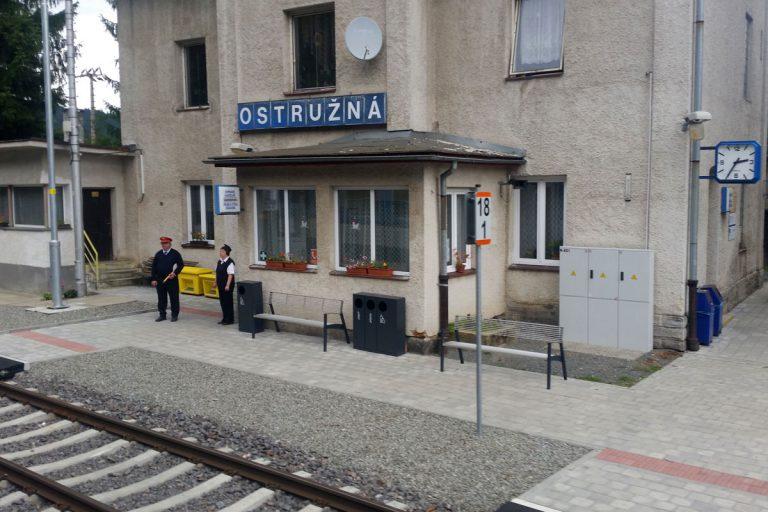 Stacja kolejowa Ostrużna. Slezský Semmering