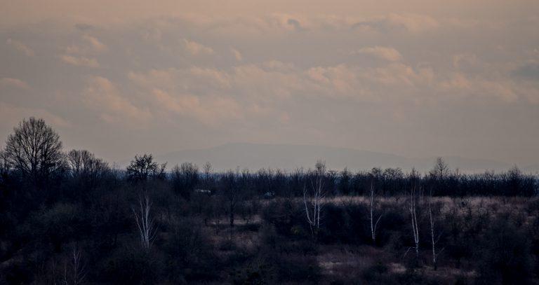 Widok na Wysokie Jesioniki z Wzgórz Trzebnickich