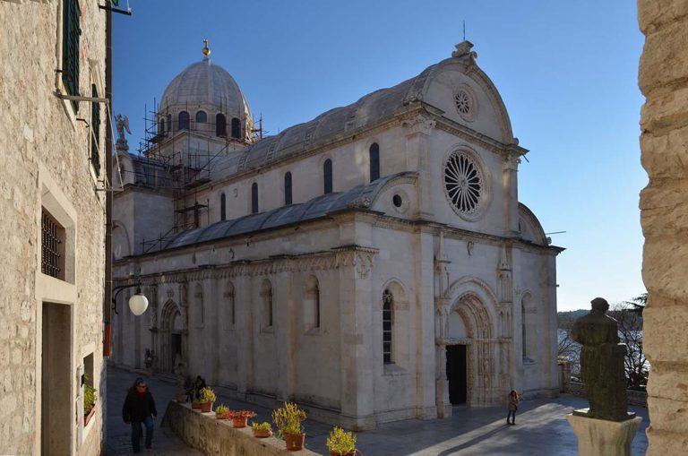 Romańsko - gotycka katedra św. Jakuba, Sibenik, Chorwacja